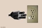 Plugue com haste terra conforme novo padrão brasileiro da NBR 14136:2002 baseada na norma internacional IEC 60906-1. <br /><br /> Palavras-chave: Eletricidade, circuitos, plugue, ligação terra.
