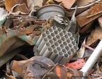 Imagem de um depósito de vários tipos de materiais recicláveis, tais como: ferro, plástico, alumínio, fios de cobre etc. <br /> Palavras-chave: Alumínio.Ferro. Plástico. Sucata.