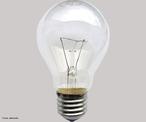 É uma lâmpada composta por um fino filamento de tungstênio. Esse filamento quando percorrido pela corrente elétrica se aquece emitindo uma luz branca. <br /><br />  Palavras-chave:  Eletromagnetismo, lâmpada, tungstênio, eletricidade, luz, energia, calor, incandescente.