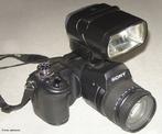 Câmera fotográfica com flash
