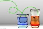 Quando a luz passa de um meio para o outro, com densidades diferentes, ela muda sua velocidade. <br /><br /> Palavras-chave: Óptica, refração, dispersão, luz, velocidade, densidade.